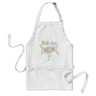 Best Middle Sister Swirling Hearts Adult Apron