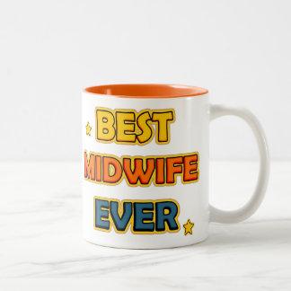 Best Midwife ever Two-Tone Coffee Mug