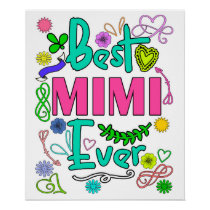 Best Mimi Ever Mom Poster- Mothers Day Posters
