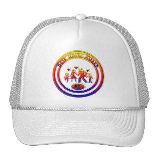 Best Mom Award Rainbow Family Hats