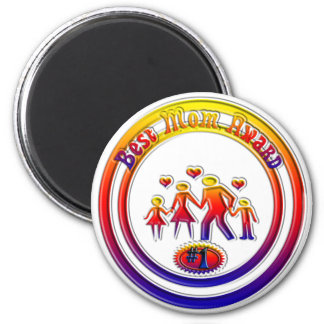 Best Mom Award Rainbow Family Magnet