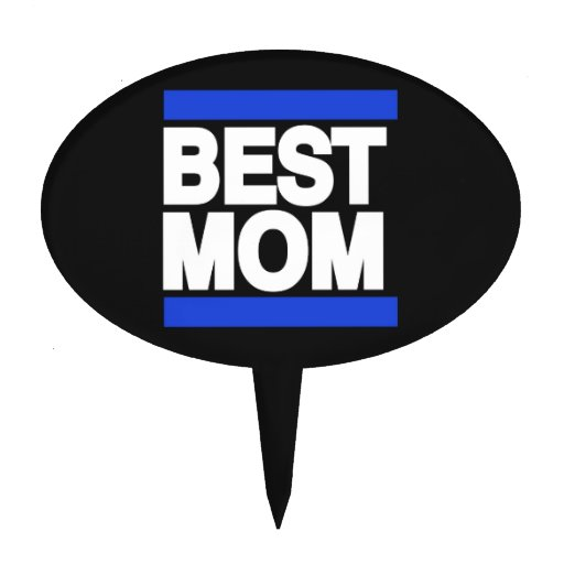 Best Mom Blue Cake Topper
