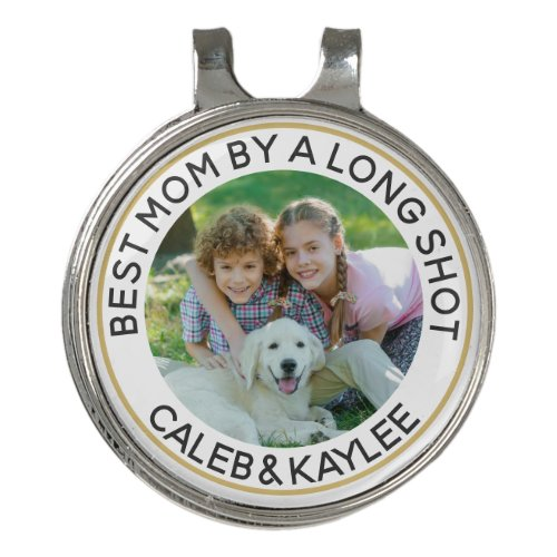 BEST MOM BY A LONG SHOT Photo Personalized Golf Hat Clip