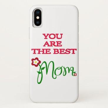 BEST MOM iPhone XS CASE