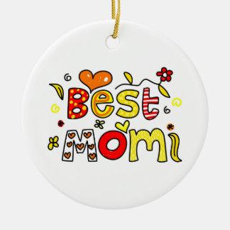 Best Mom Ceramic Ornament