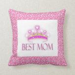 Best Mom Crown American Mojo Pillow