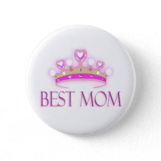 Best Mom Crown button