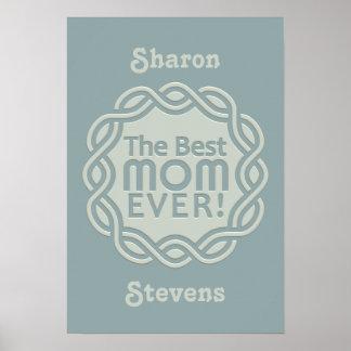 BEST MOM custom monogram poster