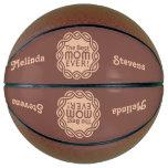 BEST MOM custom name & color basketball