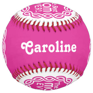 BEST MOM custom name & color softball