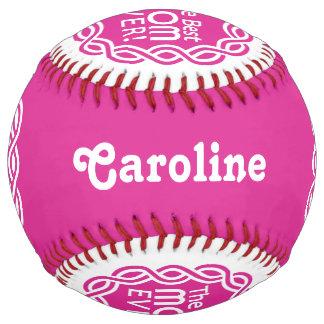 BEST MOM custom name & color softball