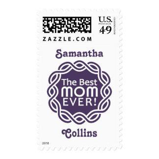 BEST MOM custom name postage stamps