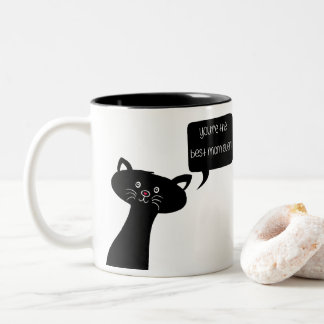 Best Mom | Cute Cat Cartoon Mug