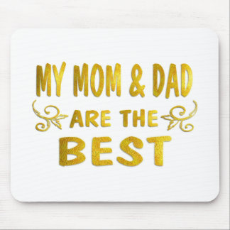 Best Mom Dad Mouse Mat
