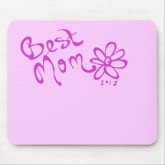Best Mom Daisy Logo Mouse Pad