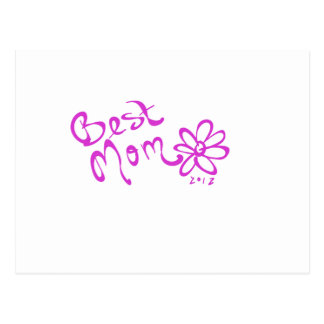 Best Mom Daisy Logo Postcard