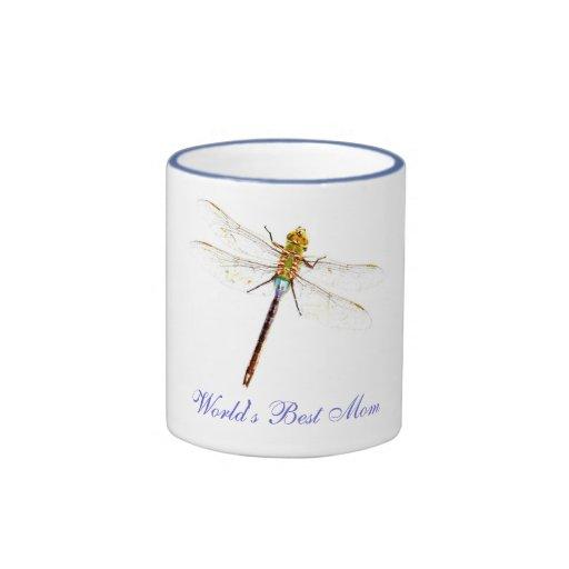 Best Mom Dragonfly Mug