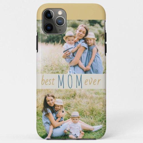 Best Mom Ever 2 Photo Modern Phone Case