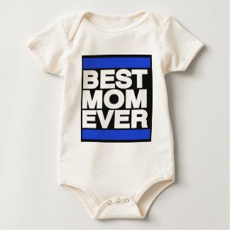 Best Mom Ever Blue Baby Bodysuit
