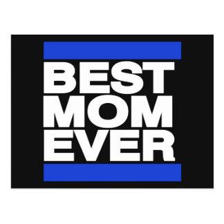 Best Mom Ever Blue Postcard