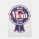 Best Mom Ever Blue Ribbon Kitchen Towels