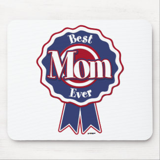 Best Mom Ever Blue Ribbon Mouse Pad