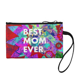 BEST MOM EVER Colorful Abstract Mothers Day Gifts Coin Purse