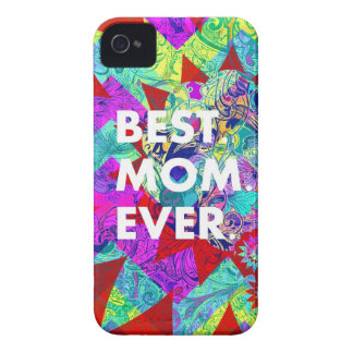BEST MOM EVER Colorful Floral Mothers Day Gifts iPhone 4 Cover