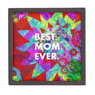 BEST MOM EVER Colorful Floral Mothers Day Gifts Premium Gift Box