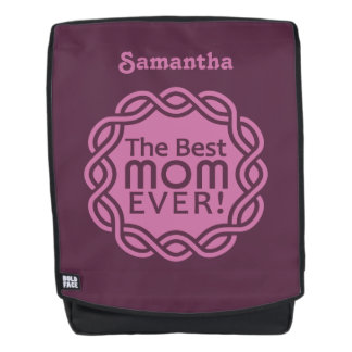 BEST MOM EVER custom name backpack