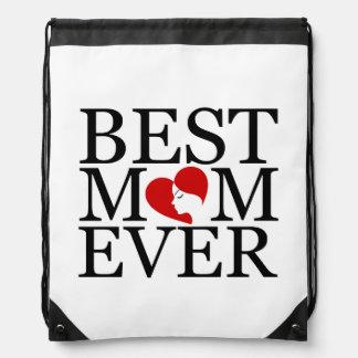 Best mom ever drawstring bag