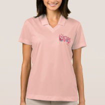Best Mom Ever Flowers and Butterfly Motif Polo Shirt