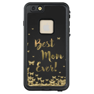 """""""Best Mom Ever"""" Gold butterfly waterproof iphone"""