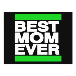 Best Mom Ever Green Postcard