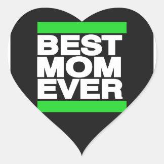 Best Mom Ever Green Heart Sticker