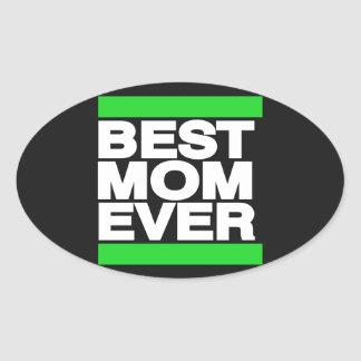 Best Mom Ever Green Sticker