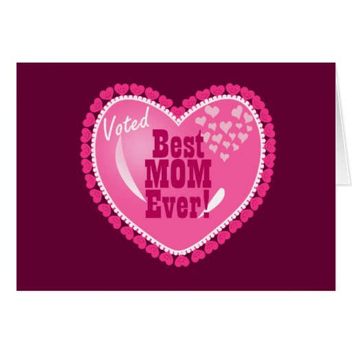 Best mom ever greeting card zazzle for Best holiday cards ever