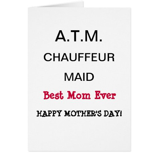 Best Mom Ever Happy Mother's Day Card