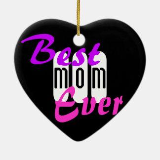 Best Mom Ever, Heart Ornament Graffiti Dazey Art
