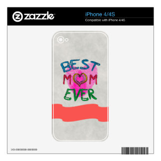 BEST MOM EVER iPhone Skin Decal For The iPhone 4S