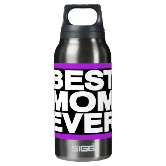 Best Mom Ever Lg Purple Insulated Water Bottle