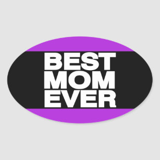Best Mom Ever Lg Purple Stickers