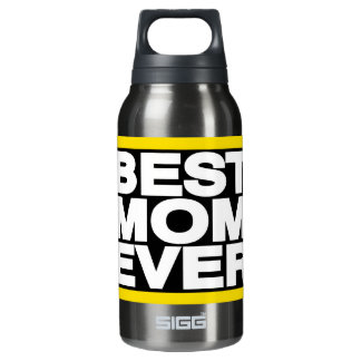 Best Mom Ever Lg Yellow Insulated Water Bottle