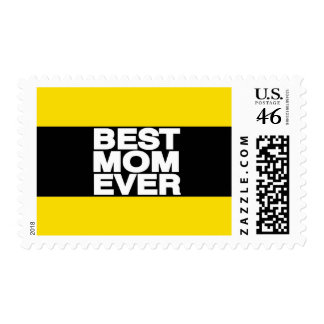 Best Mom Ever Lg Yellow Stamps