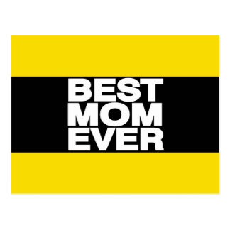 Best Mom Ever Lg Yellow Postcard