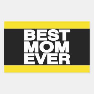Best Mom Ever Lg Yellow Rectangular Sticker