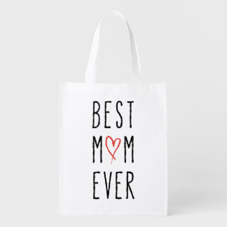 Best mom ever, Mother's day gift Grocery Bags