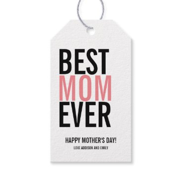 Art Themed Best Mom Ever Mother's Day Gift Tag