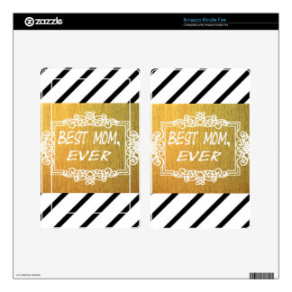 Best Mom Ever Mother's day Gold gift Decals For Kindle Fire