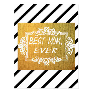 Best Mom Ever Mother's day Gold gift Postcard